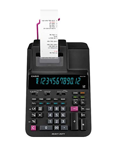 Casio Office Products DR-270R Heavy-Duty Printing Calculator, Black
