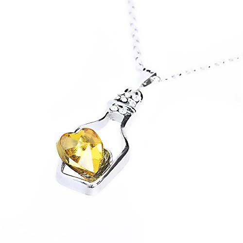 E(TM)New Women Ladies Fashion Popular Crystal Necklace Love Drift Bottles (C) ()
