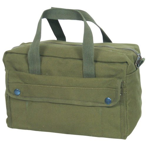 Fox Outdoor Products Mechanic's Tool Bag with Brass Zipper, Olive Drab