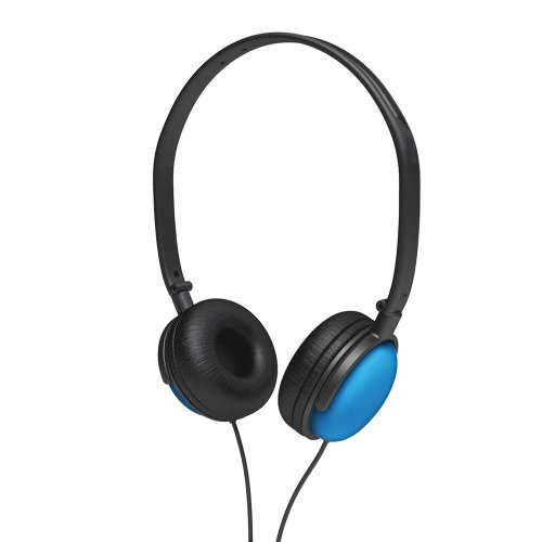 Coby CV135BLU DJ Style High-Performance Stereo Headphones, Blue