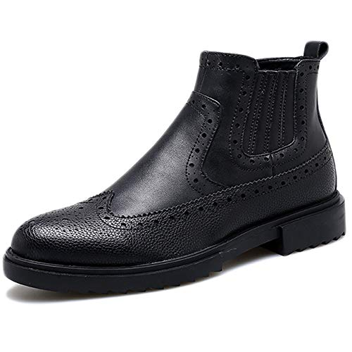 Utility Stivaletti Work Black Chelsea FCBDXN Uomo Uomo Desert Leather Footwear Stivaletti Brogue Business Boot Da Stivaletti OdxnqxUR