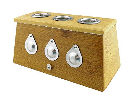 Bamboo Single Hole (Winterworm® Bamboo Three Hole Healing Box for Moxa Moxibustion Medicine Therapy)