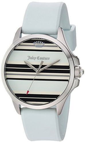 Juicy Couture Women's 'JETSETTER' Quartz Gold-Tone and Silicone Casual Watch, Color:Blue (Model: 1901569)