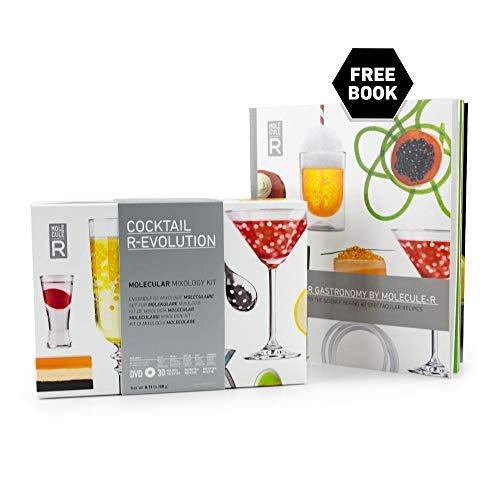 Molecule-R - Beginner Molecular Mixology Kit + FREE Recipe Book - COCKTAIL R-EVOLUTION (Best Molecular Gastronomy Kit)