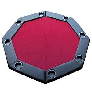 Amazon Com Brybelly 48 Quot Red Felt Folding Octagon Poker