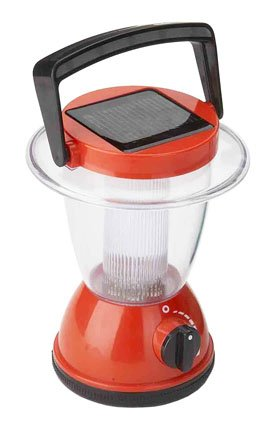 Solar Powered Lantern and Night Light. 6.3″ tall, red color., Outdoor Stuffs
