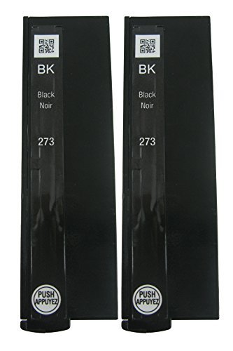 Genuine Epson 273 Black Ink Cartridges 2 pack in Original Bulk Packaging for Epson Expression XP-820 Expression Premium 600 610