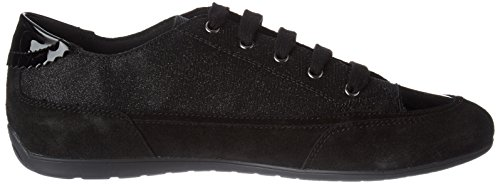 Marron Sneakers Basses Geox D New Noir black Moena Femme awaY17