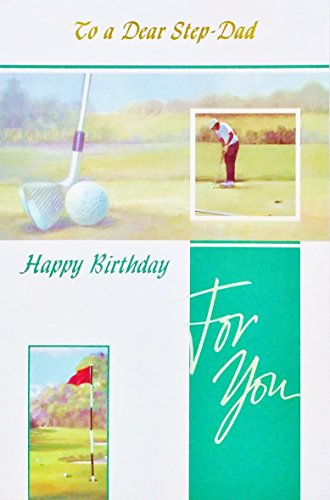 To a Dear Step-Dad - Happy Birthday Greeting Card for Step-Father -