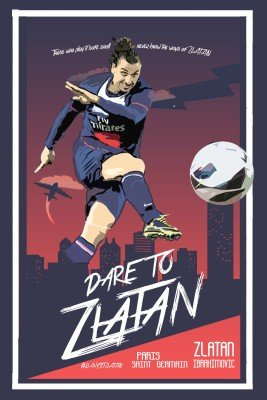 Used, Zlatan Ibrahimovic Poster Paper Print(18 inch X 12 for sale  Delivered anywhere in USA