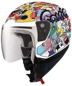 casco demi jet para niños