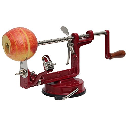 Johnny Apple Peeler with Suction Base VKP1010 by VICTORIO + (1) additional Coring &Slicing Blade VKP1010-2 + (2) additional Peeling Knifes VKP1010-1 by Victorio Kitchen Products (Image #7)