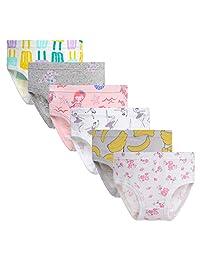 Benetia Girls Cotton Undwear 6-Pack