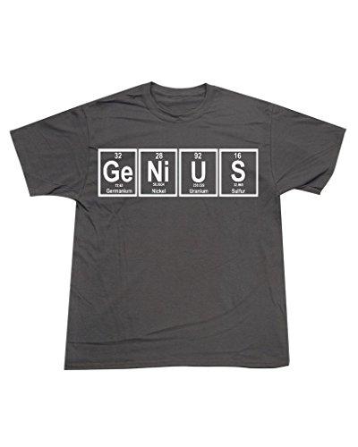 P&B Men's Periodic Table Elements Genius Funny Science T-shirt