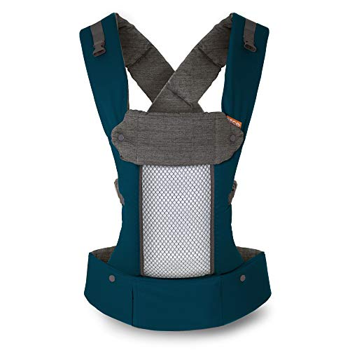 Beco 8 Baby Carrier All Seasons Ergonomic Baby Carrier -Teal - Comes Complete with Infant Insert, Removable Lumbar Support, 360° of Comfort for Parent and Child