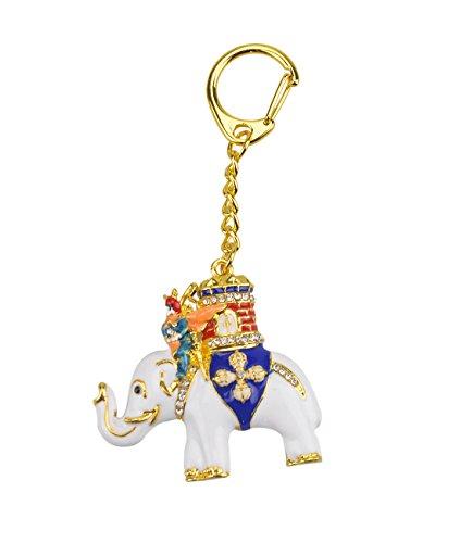 Feng Shui Power Elephant with Warrior Keychain W Fengshuisale Red String Bracelet W2344