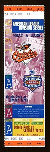 1996 ALDS Full Ticket Baltimore Orioles v Cleveland Indians 43589