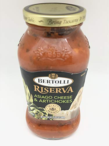 Bertolli Riserva Asiago Cheese and Artichokes Pasta Sauce 24 ounce (2 pack)
