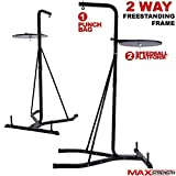Max Strength Free Standing 2 way Frame Boxing Punch Bag Stand Speedball Platform (Frame Only)