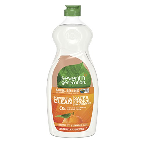 Seventh Generation Dish Liquid Soap, Clementine Zest & Lemongrass Scent, 25 oz (Packaging May Vary) - Clementine Liquid