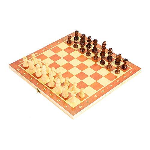 木製 チェスセット 29cm折り畳み式 チェスジャパン チェス盤 チェス駒セット チェスゲーム ホームパーティ 誕生日 プレゼント