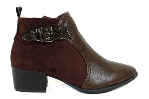 Brown Sko's Donna 2 Ragazza' Chelsea Stivali Da bl014 xXx1Hw