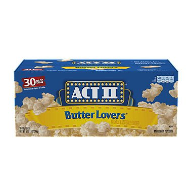 Calories In Act Ii Butter Popcorn Bag - 7
