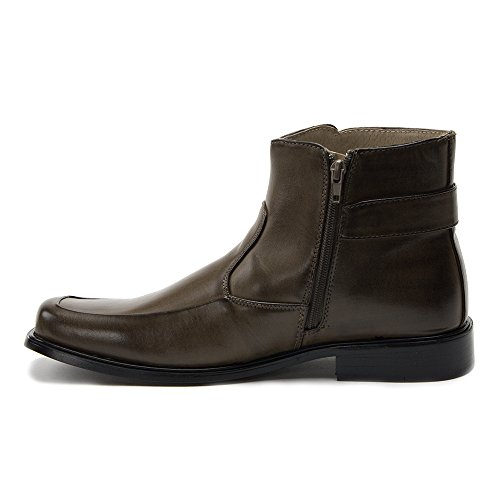 Image of J'aime Aldo New Men's 38306 Leather Lined Tall Zipped Square Toe Dress Boots