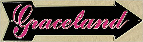 Graceland Elvis Presley Home King of Rock n Roll Arrow Embossed Metal - Metal Elvis