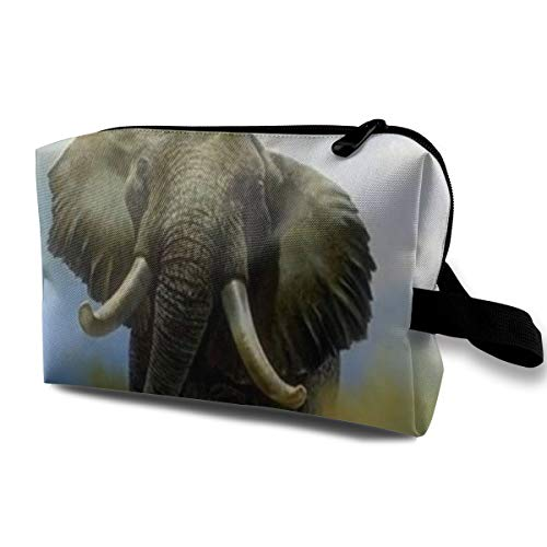 Bull Elephant Cosmetic Bags Stranger Things Makeup Bag With Brush Pouch Portable Zipper Wallet Hangbag Pen For Girl And Woman Necessary