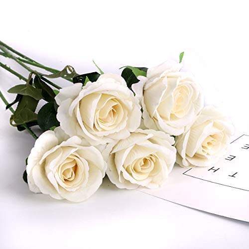 Louiesya Artificial Flowers 6pcs of Fake Rose Flower, used for sale  Delivered anywhere in USA