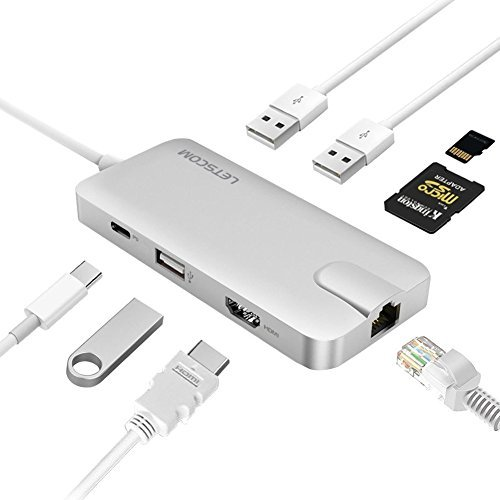 LETSCOM USB C HUB C002 (Silver)