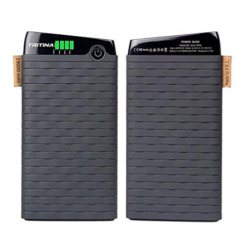 Tritina GYM Tr40 Bank Power 10.000mah Top Grade External Polymer Battery Cell, Input 2.1a, Output 3.1a, LCD Indicator
