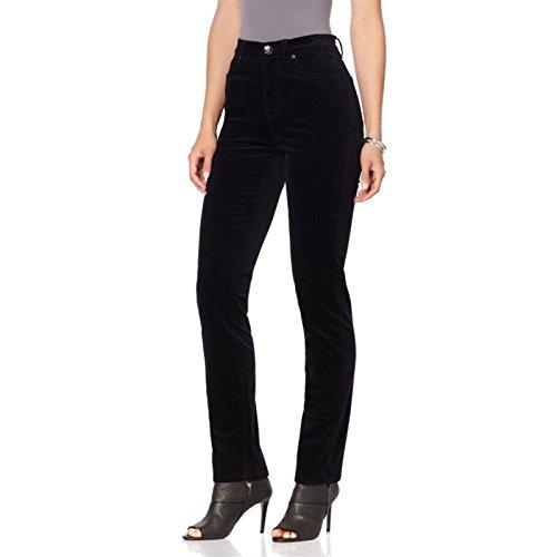 Pants Jeans Velvet (DG2 Diane Gilman Stretch Velvet Skinny Jean Woven Fixed Black 16P New 569-228)