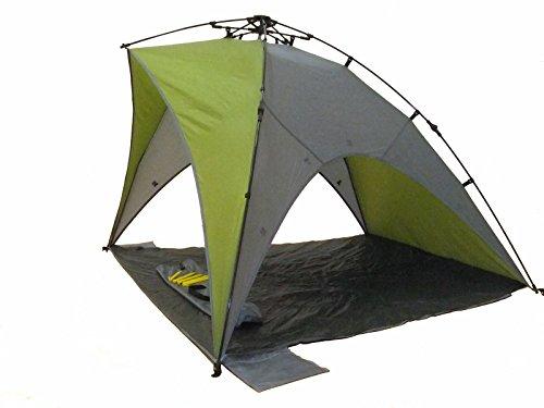 Genji Sports Star Canopy Instant Beach Sun Shelter, Green/Beige, One Size