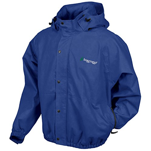 Frogg Toggs Classic Pro Action Rain Jacket with Pockets, Royal Blue, Size Large
