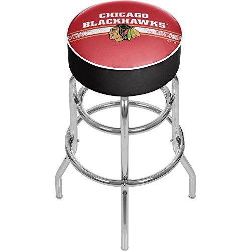 - Trademark Gameroom NHL Chicago Blackhawks Chrome Bar Stool with Swivel