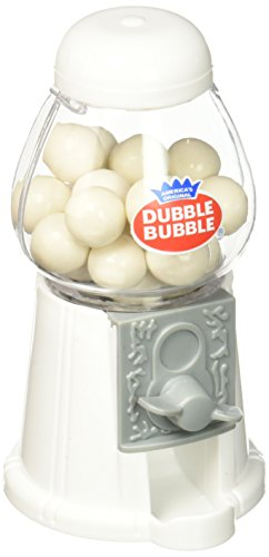 Wedding Star 9093 Mini Classic White Gumball Machine with Gumballs -