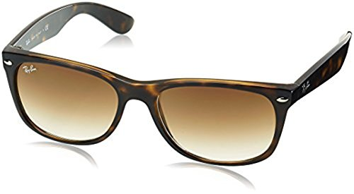 Ray-Ban New Wayfarer RB2132 Sunglasses Light Havana / Crystal Brown Gradient 58mm & Cleaning Kit - Ray Ban Light Wayfarer Sunglasses New Havana