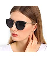 Rimless Round Gold Frame with Scalloped Rim...