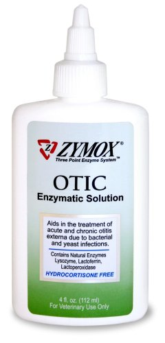 Zymox Otic Pet Ear Treatment without Hydrocortisone, 4-Ounce, My Pet Supplies