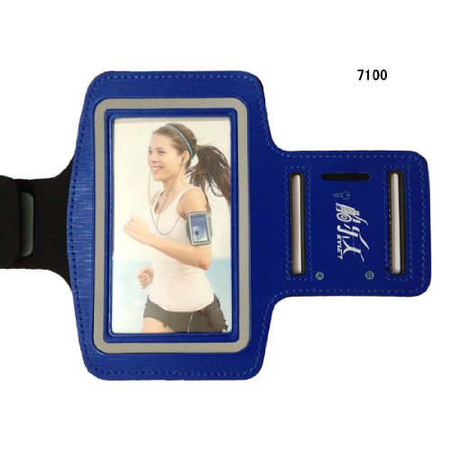 Blue Premium Workout Running Sports Armband Neoprene Gym ...