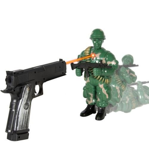 Military Soldier Laser Shooting Playset