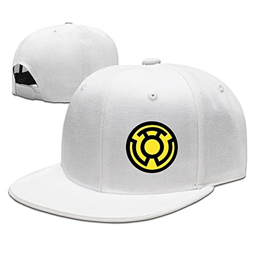 Unisex Yellow Lantern LOGO Racing Cap - Hat White Yoko Ono