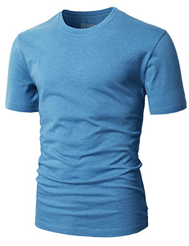 H2H Men Cotton Blend Crew Neck Classic & Stylish Typical Type T-Shirts ULTRAMARINEBLUE US S/Asia M (CMTTS0198)
