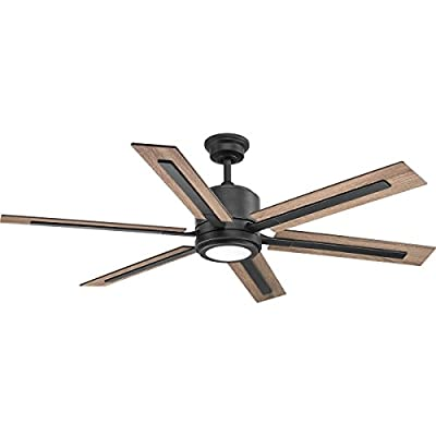 "Progress Lighting P2586-7130K Glandon 60"" Ceiling Fan, Black"