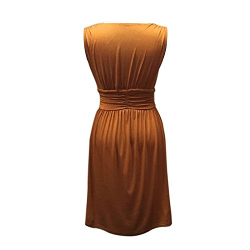 Your Sleeveless Women's Charm Summer Brown Sundress Prince OH7AdnxAqw