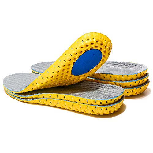 3 Pairs Elastic Shock Absorbing Shoe Insoles Breathable Honeycomb Sneaker Inserts Sports Shoe Insole Replacement Insoles for Men and Women (US 11-12)