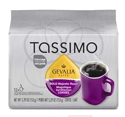 Tassimo Gevalia Bold Majestic Roast Coffee, 12 Count T-Discs