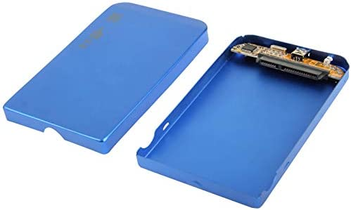 2.5 inch SATA HDD External Case Color : Blue Size 126mm x 75mm x 13mm
